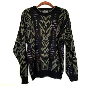 Vintage Expressions 80s Geometric Sweater
